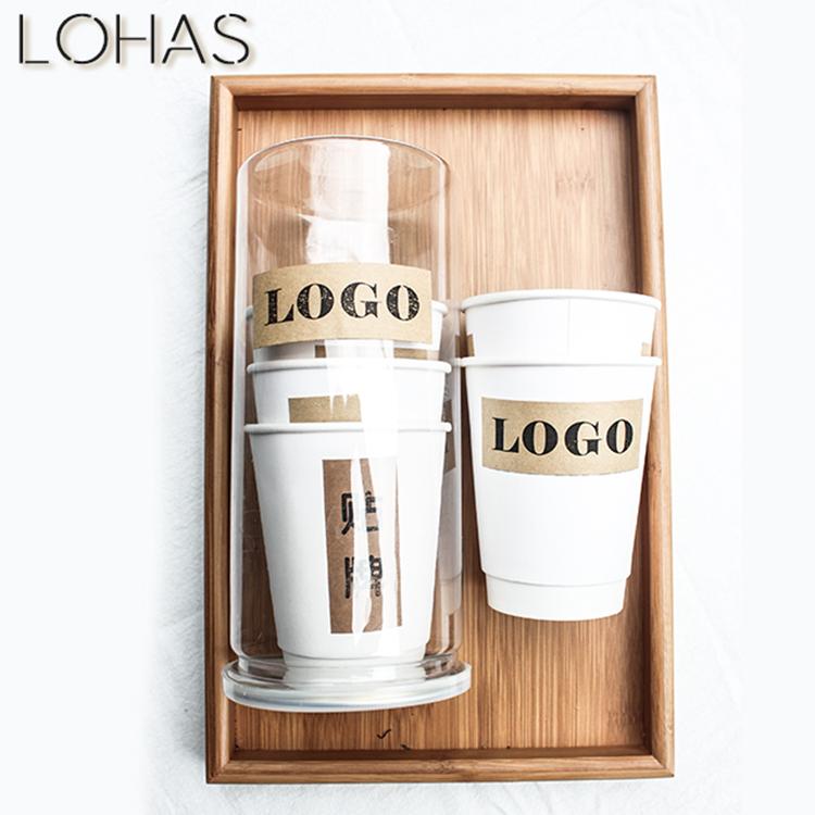定制一次性纸杯自带茶叶隐茶杯代加工装茶叶方便快捷企业定制logo